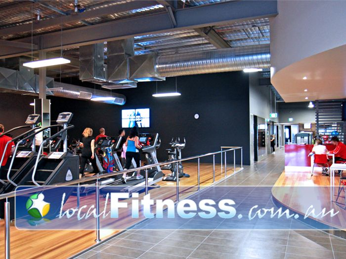 Genesis Fitness Clubs Near Seaford Meadows The state of the art Cardio theatre setup in Noarlunga.