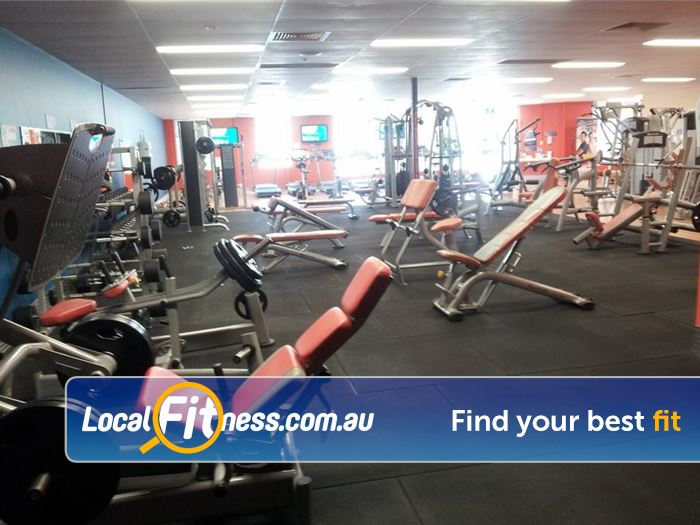 Plus Fitness 24/7 South Lake Heavy duty plate loading machines for your strength training.