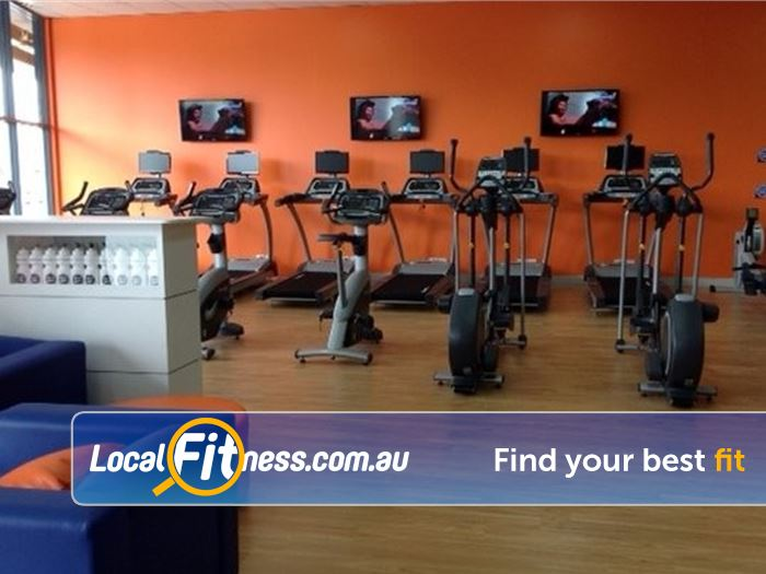 Plus Fitness 24/7 Carseldine Gym Rothwell  | Our Carseldine gym provides a comprehensive cardio setup.