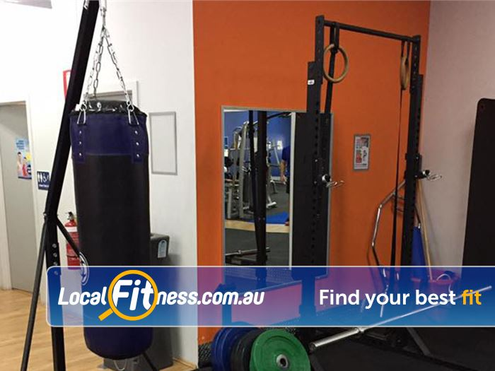 Plus Fitness 24/7 Carseldine Bald Hills Our boxing and performance training setup at Plus Fitness Carseldine.