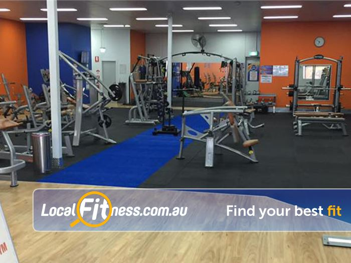 Plus Fitness 24/7 Carseldine Near Lawnton Fully equipped free-weight gym for strength training.
