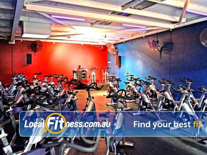 Goodlife Health Clubs Brookfield Place Perth RPM spin cycle classes will get your heart pumping.