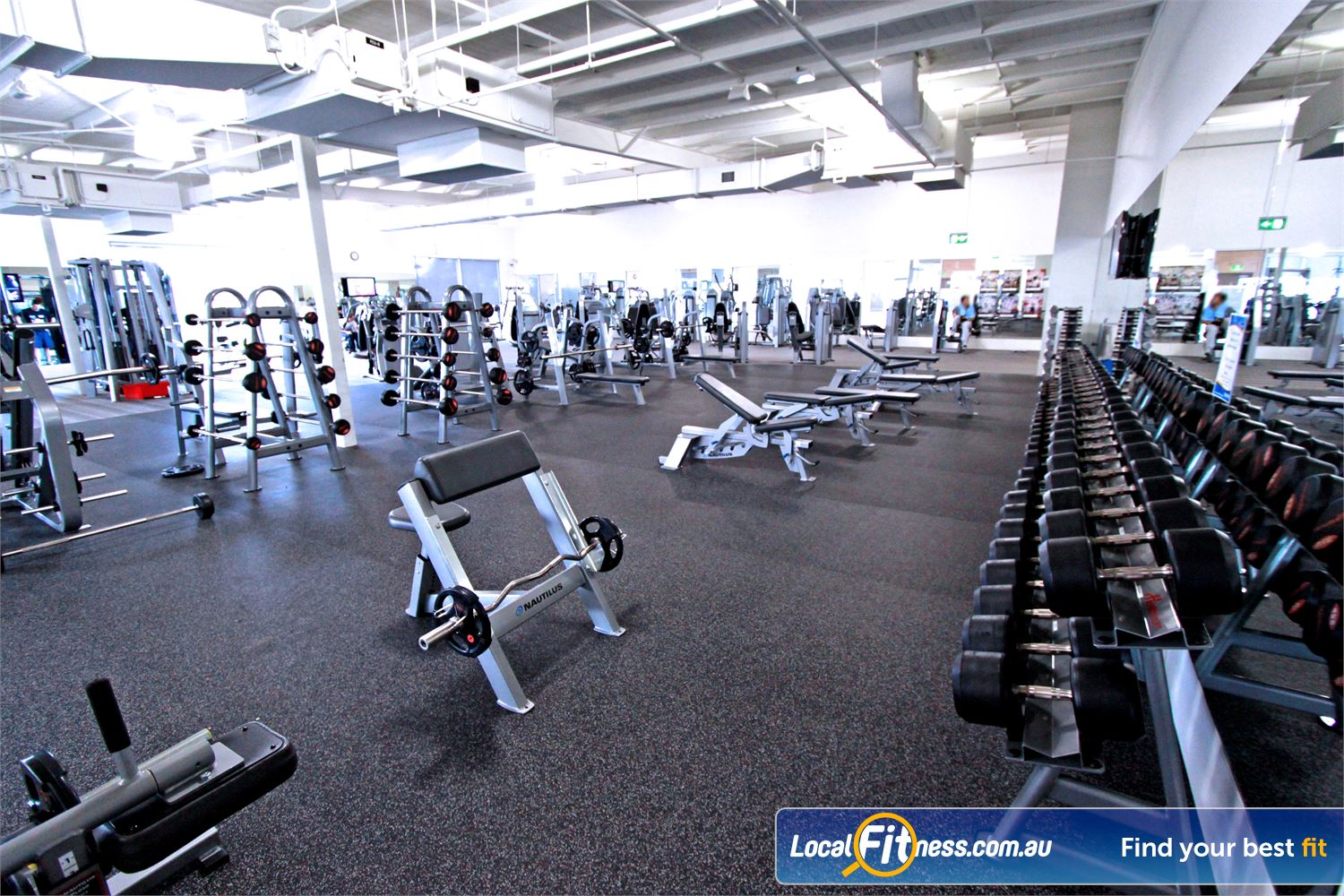 Genesis Fitness Clubs Near Watsonia North Our Bundoora gym provides a fully equipped free-weights area for strength.