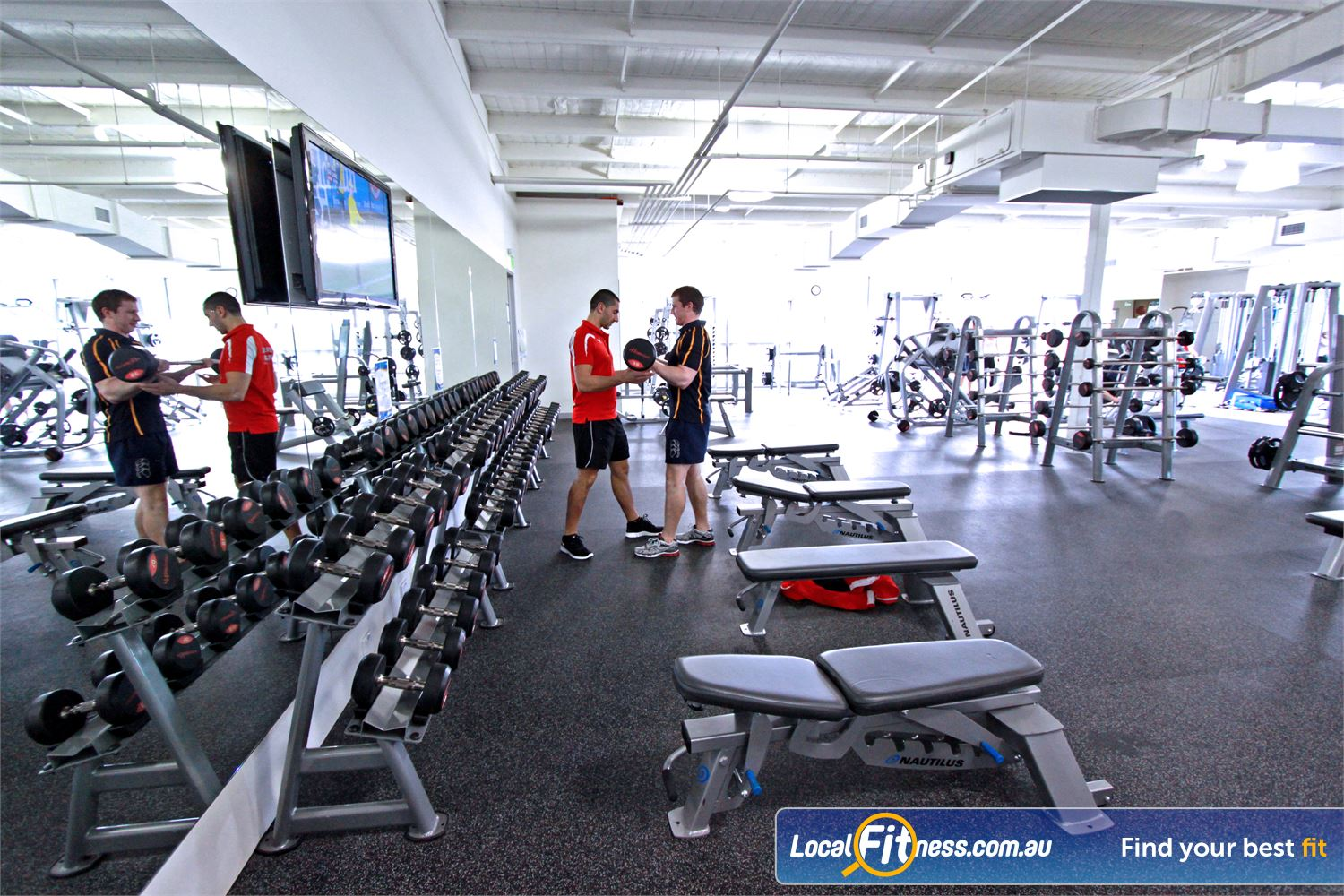 Genesis Fitness Clubs Near Watsonia Bundoora gym instructors can tailor a free-weights program for you.