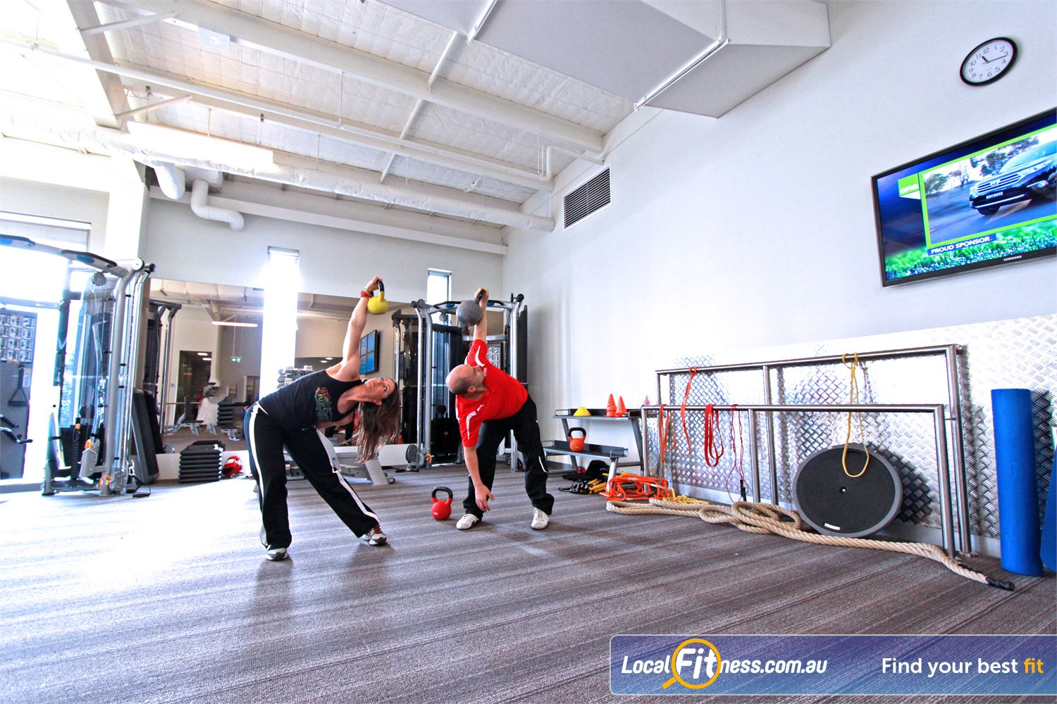 Genesis Fitness Clubs Near Kingsbury Bundoora personal trainers can incorporate kettlebell into your training.