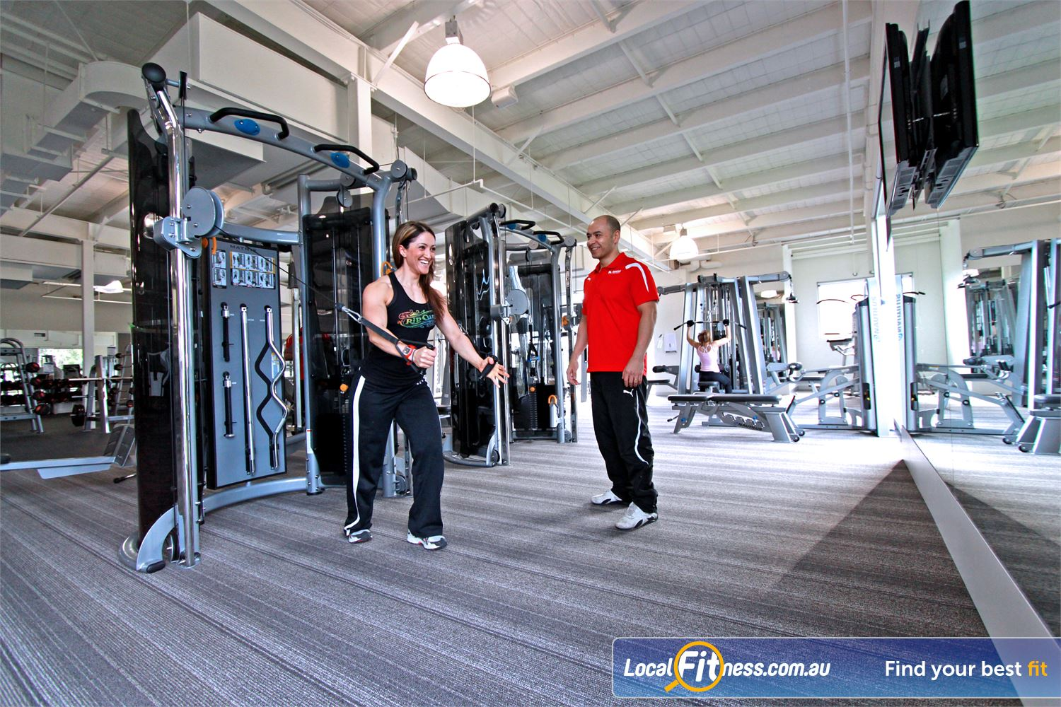 Genesis Fitness Clubs Bundoora Bundoora personal trainers can take you through a strength training workout.