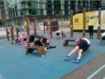 Take advantage of classes in the outdoor exercise