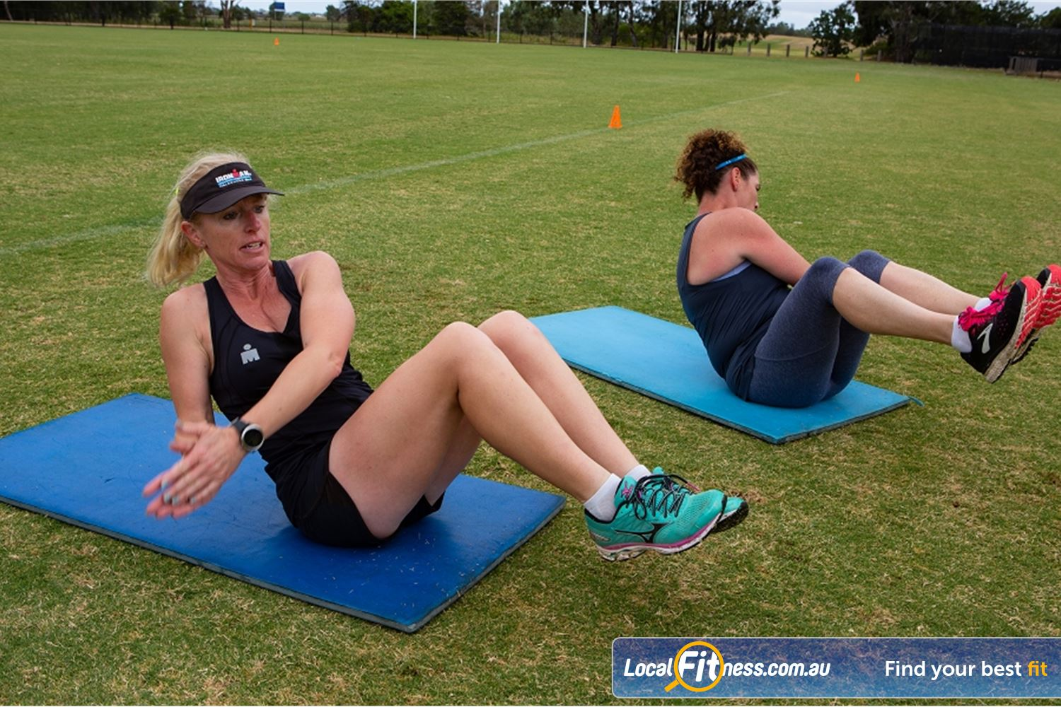 Step into Life Essendon Work your core with Essendon outdoor group fitness.