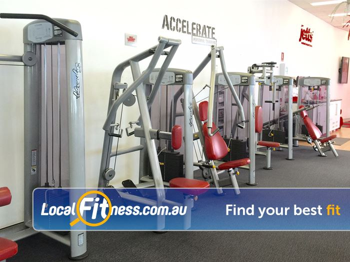 Jetts Fitness Near Yangebup Only the best equipment from Synergy Fitness.