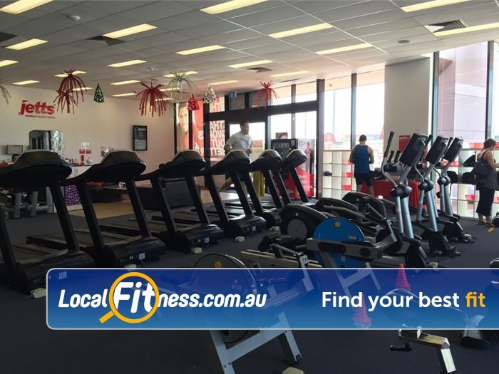 Jetts Fitness Success Our Success gym includes rows of cardio machines so you don't have to wait.