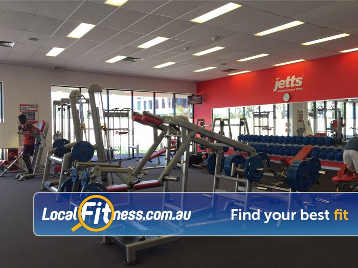 Jetts Fitness Success Our Success gym provides a spacious free-weights and gym area.