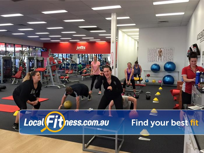Jetts Fitness Success Small group personal training is a great way to get fit with friends and family.
