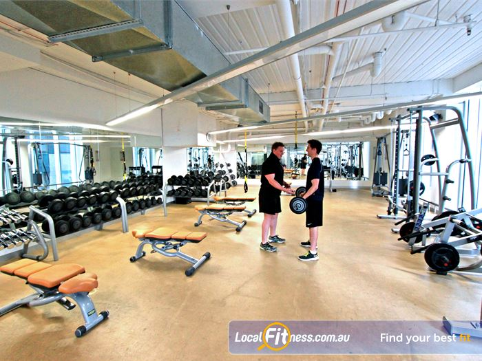 South Pacific Health Clubs Gym Docklands  | The spacious South Pacific Melbourne gym floor.