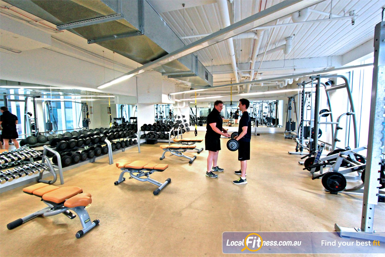 South Pacific Health Clubs Melbourne The spacious South Pacific Melbourne gym floor.