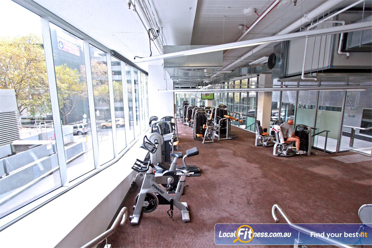 South Pacific Health Clubs Near East Melbourne State of the art equipment from Technogym.