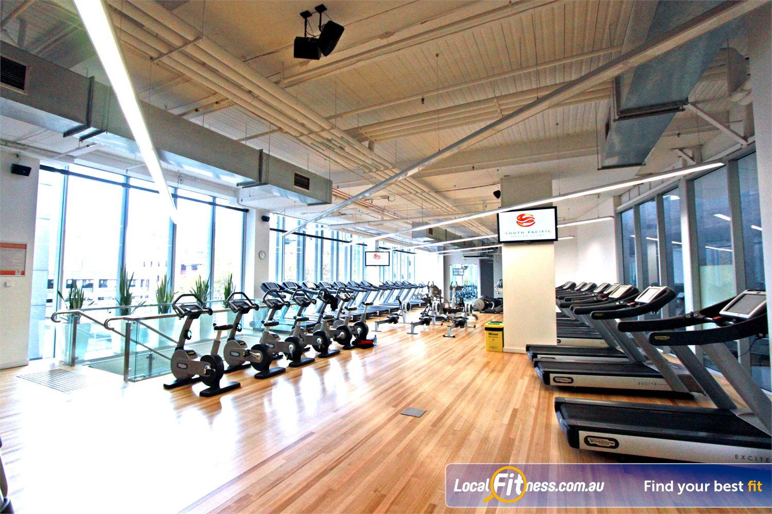 South Pacific Health Clubs Near South Melbourne State of the art personal entertainment screens on our cardio pieces.
