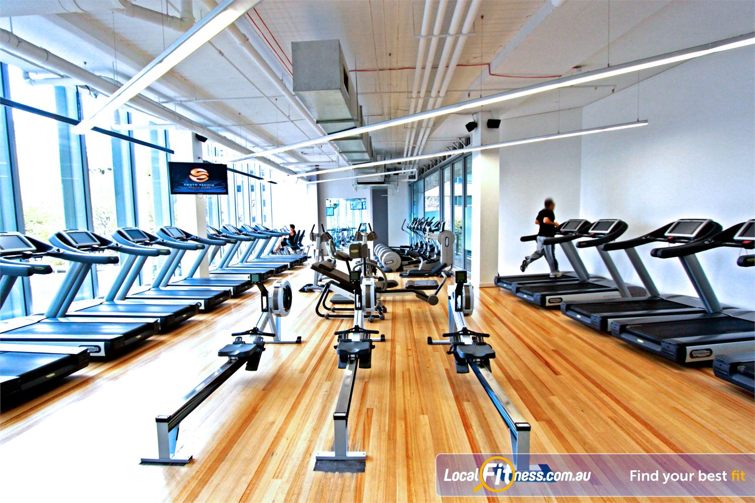 South Pacific Health Clubs Melbourne Over 140 pieces of state of the art strength and cardio.