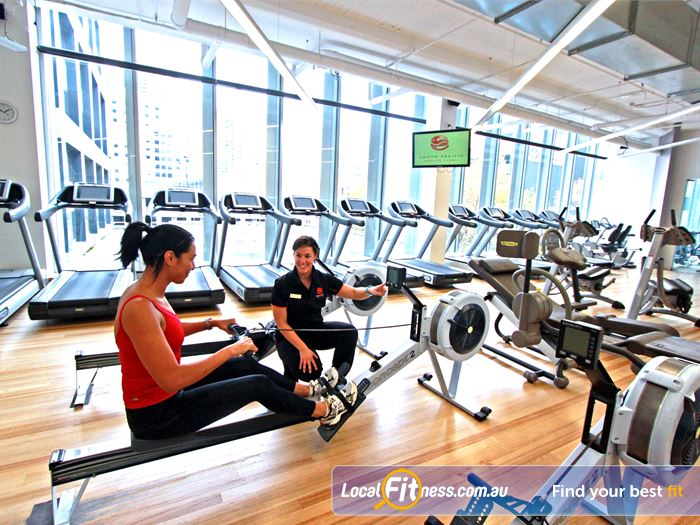 South Pacific Health Clubs Southbank Gym Fitness Treadmills, cross trainers,