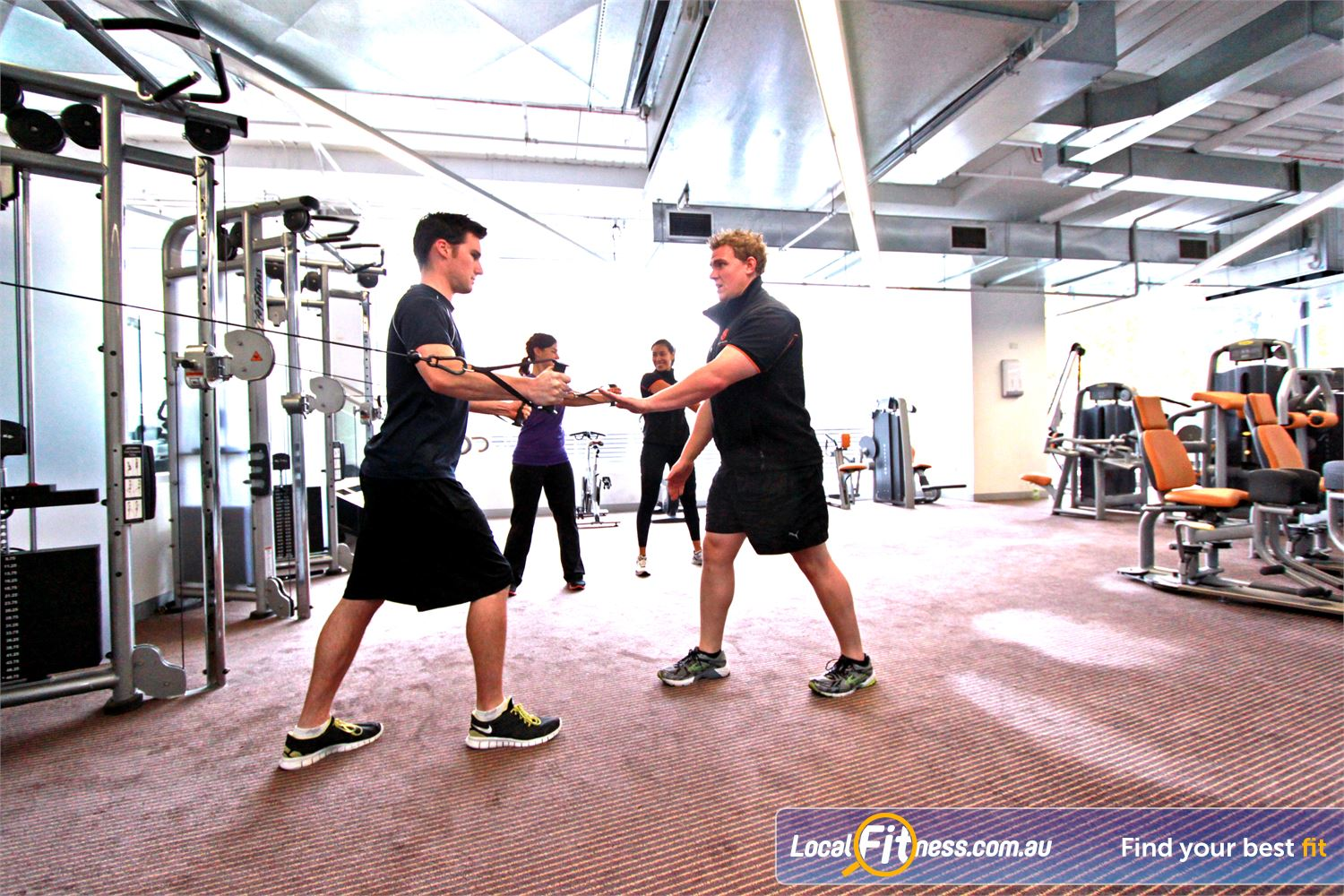 South Pacific Health Clubs Melbourne Vary your strength training with Kettlebell training or TRX.