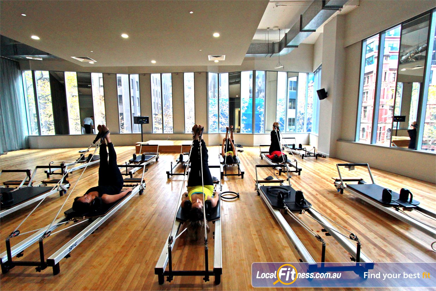 South Pacific Health Clubs Near Southbank Dedicated Wellness studio providing speciality Melbourne Pilates Reformer classes.