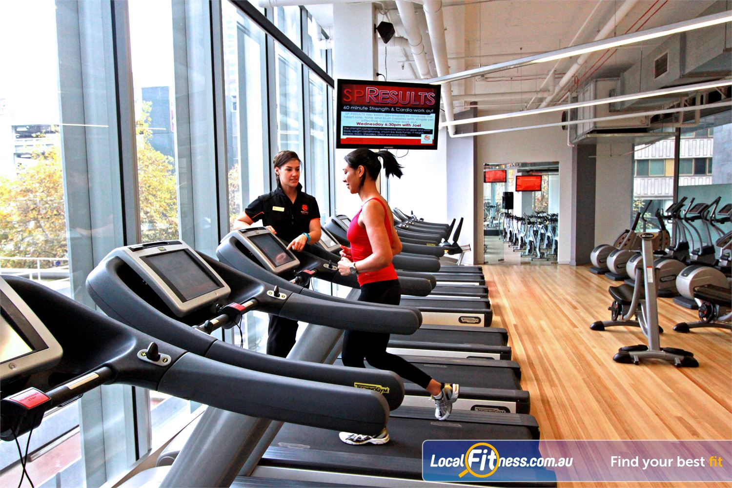 South Pacific Health Clubs Near East Melbourne State of the art personal entertainment screens on our cardio pieces.