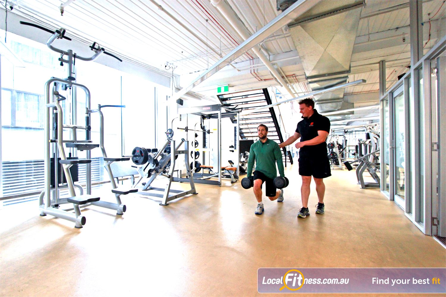 South Pacific Health Clubs Melbourne South Pacific Melbourne gym instructors can monitor your strength training program and results.