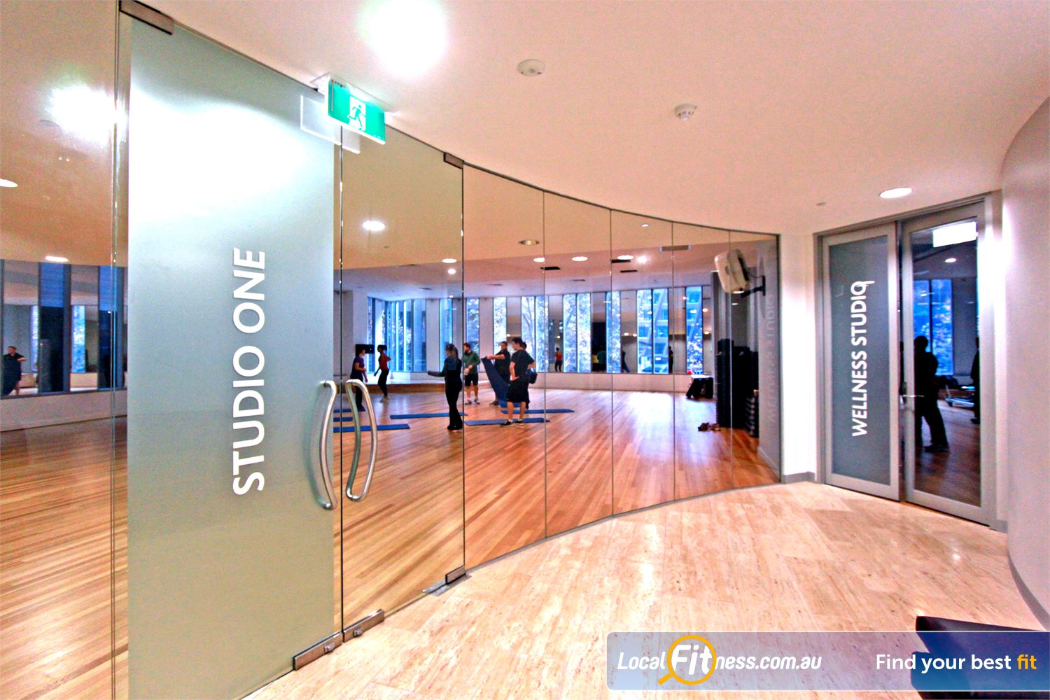 South Pacific Health Clubs Melbourne Dedicated studio with over 50 group classes per week.