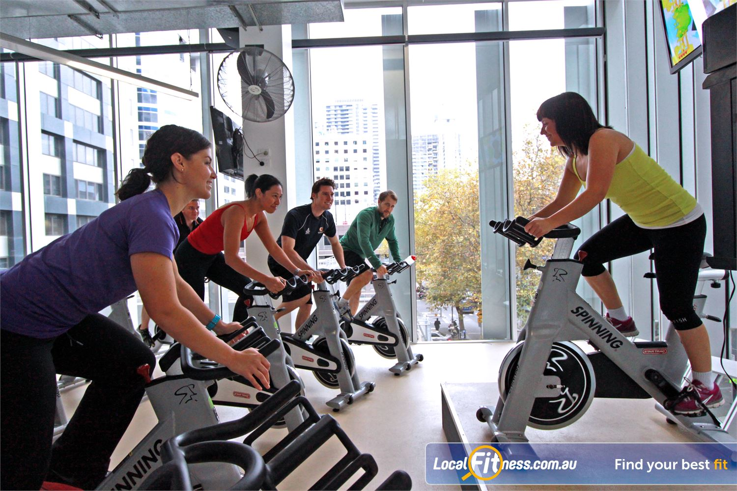 South Pacific Health Clubs Near Southbank Express cycle classes cater for busy city professionals.