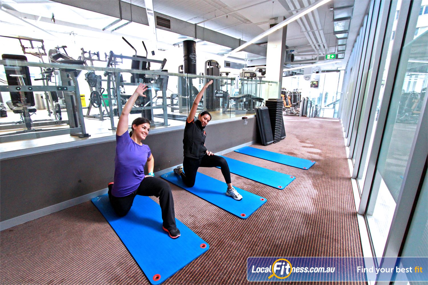 South Pacific Health Clubs Melbourne South Pacific trainers can help design a stretching program to suit you.