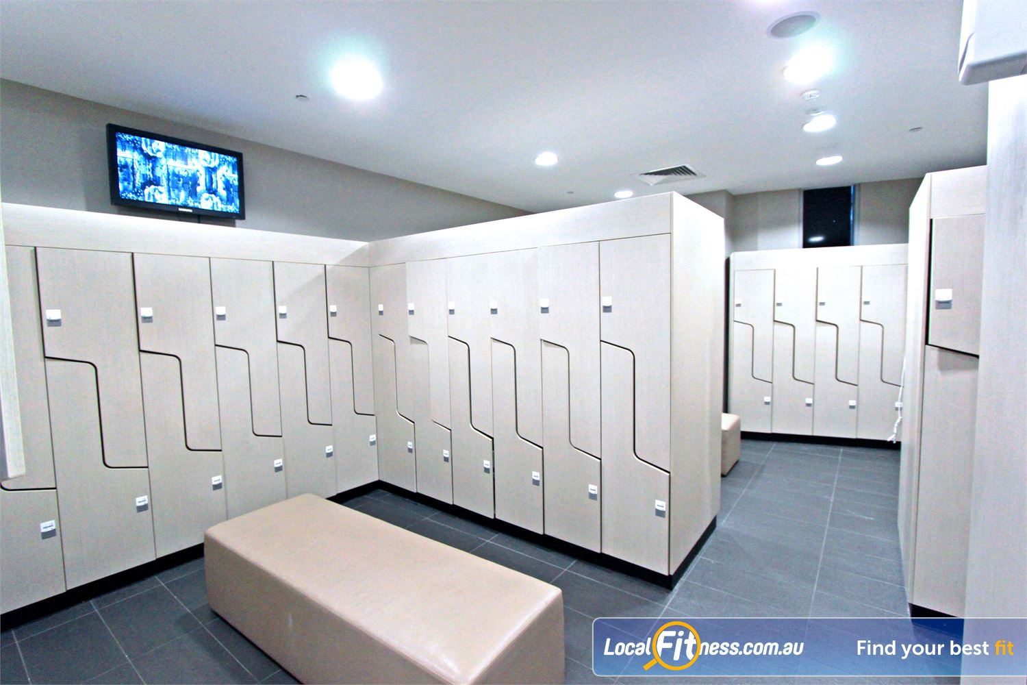 South Pacific Health Clubs Melbourne Spacious and secure lockers for all your belongings.