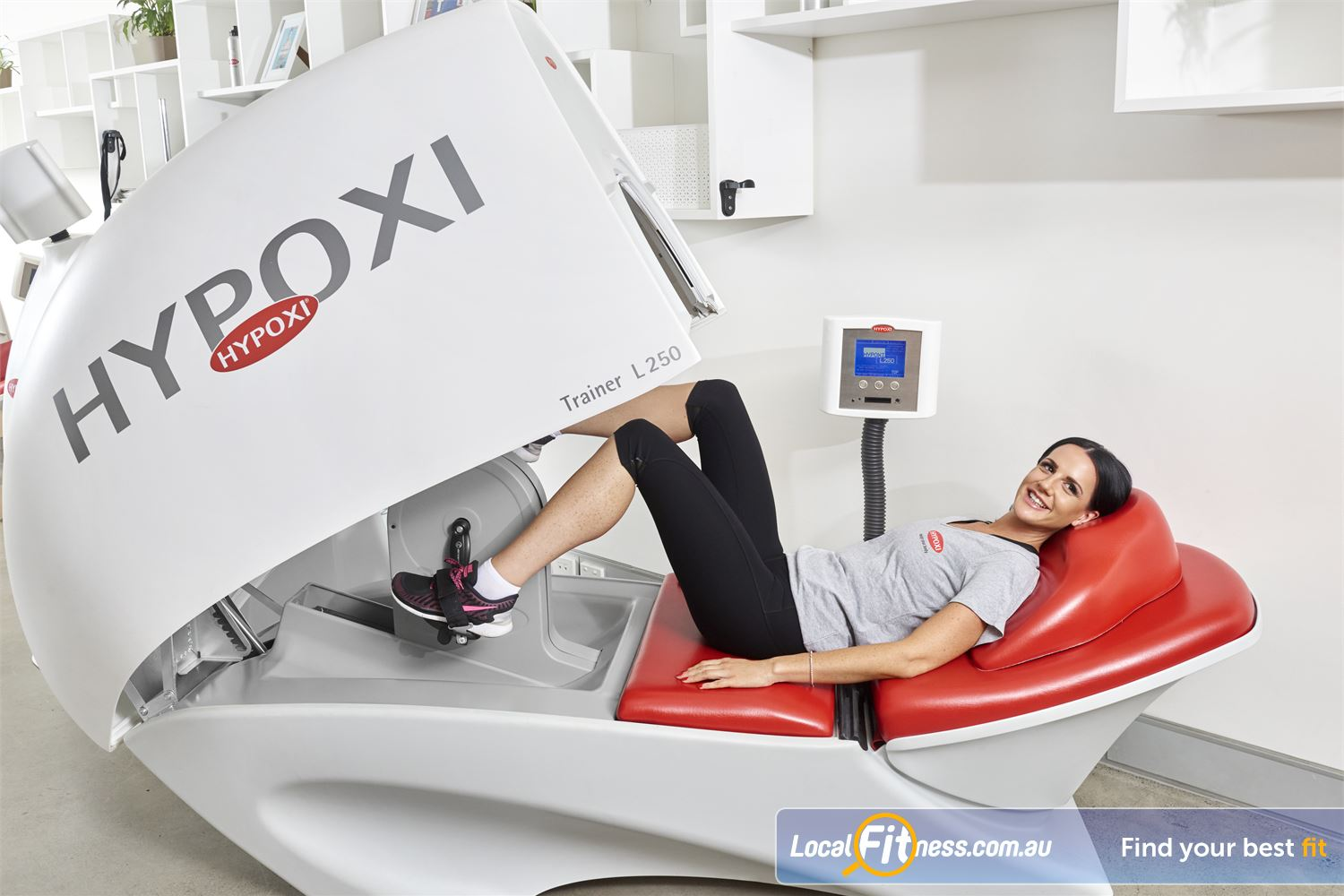 HYPOXI Weight Loss Port Melbourne The Vacunaut technology targets stubborn fat around the stomach and hips.
