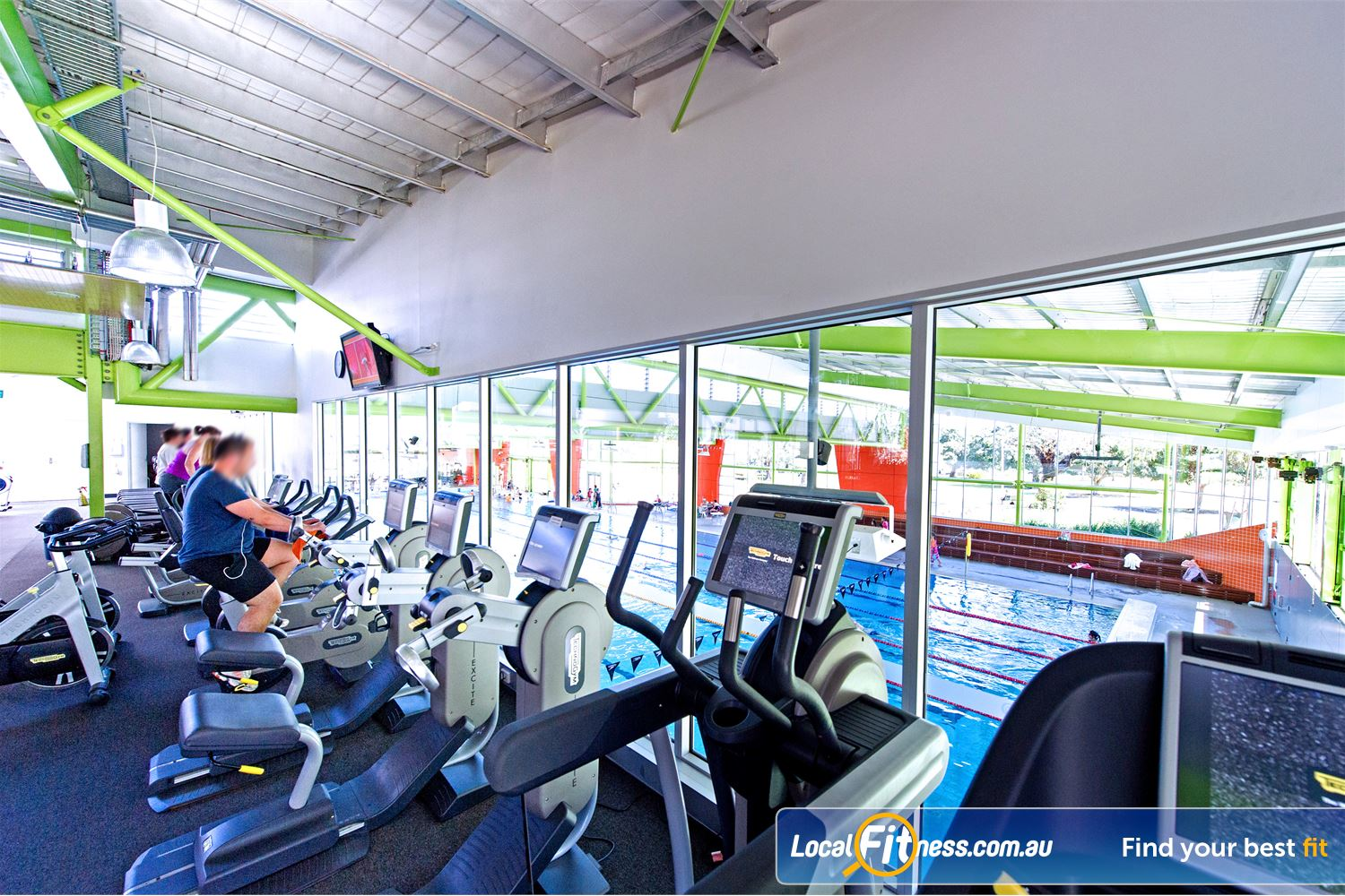 Annette Kellerman Aquatic Centre Near Arncliffe Our cardio area features relaxing views of the swimming pool.