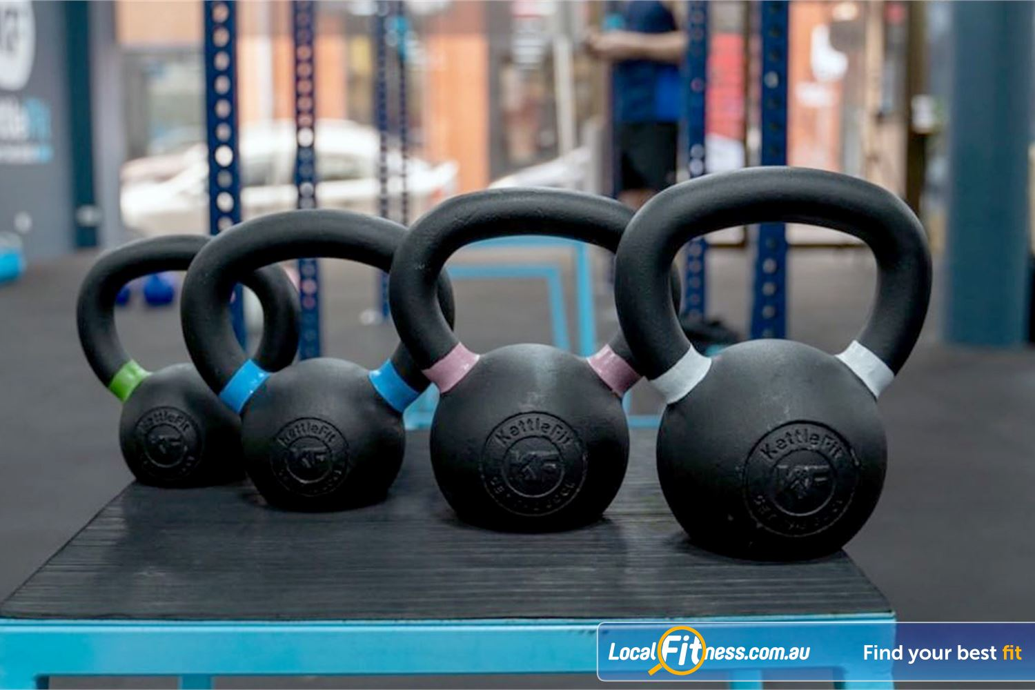 KettleFit Near St Kilda East We have Kettlebells that cater for beginners all the way up to advanced trainers.