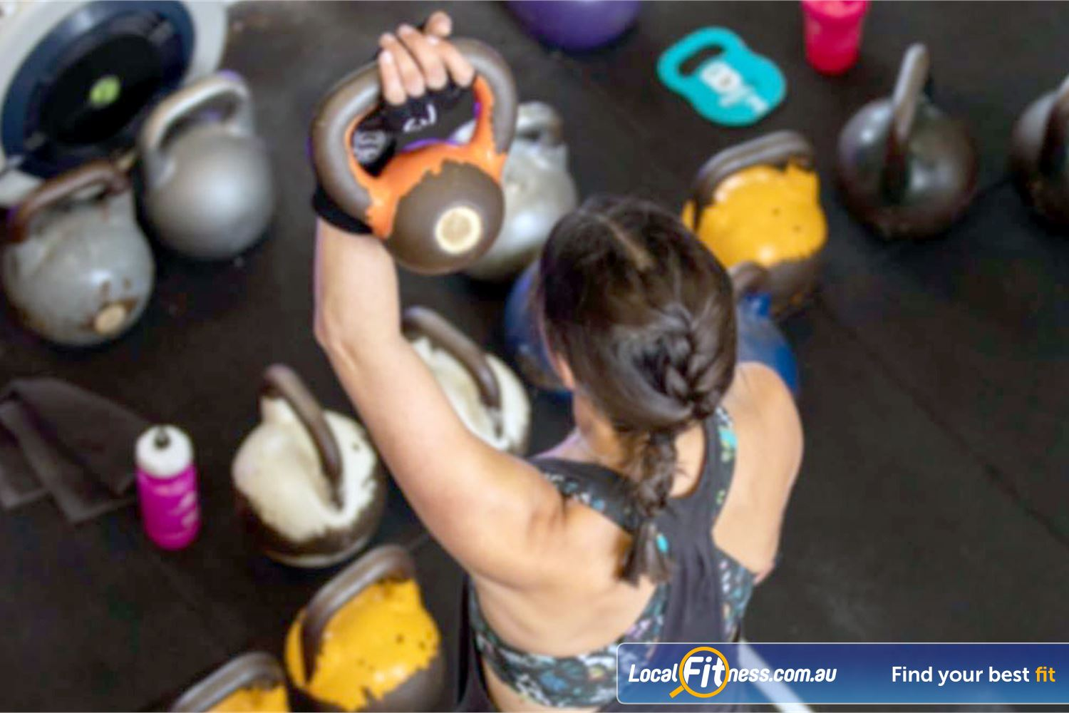 KettleFit Near St Kilda East KettleFit works both your aerobic fitness and strength simultaneously.