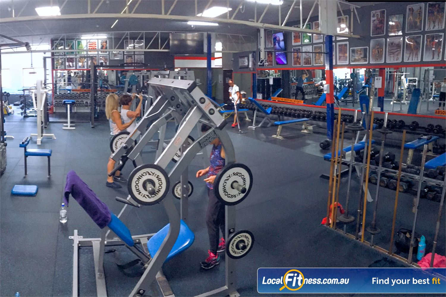 Tabban Muscle & Body Shape Richmond Our Richmond gym includes a comprehensive free-weights area.