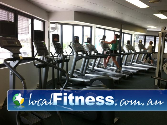 Fernwood Fitness Capalaba State of the art cardio machines with built in entertainment screens.