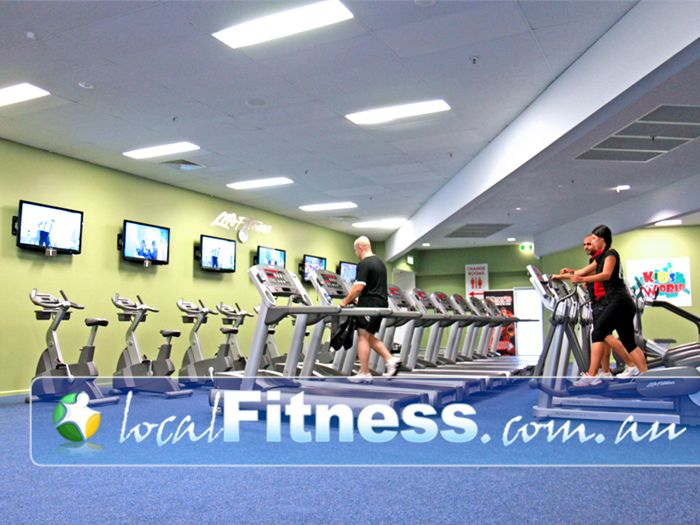 World Gym Bankstown A private separate cardio space overlooking the World Gym Bankstown floor.