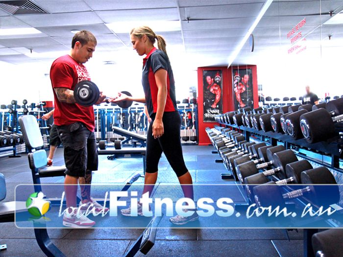 World Gym Near Condell Park Our personal trainers will take you through your free-weights workout.
