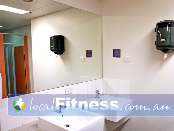 World Gym Near Condell Park Pristine and clean bathroom facilities in Bankstown.