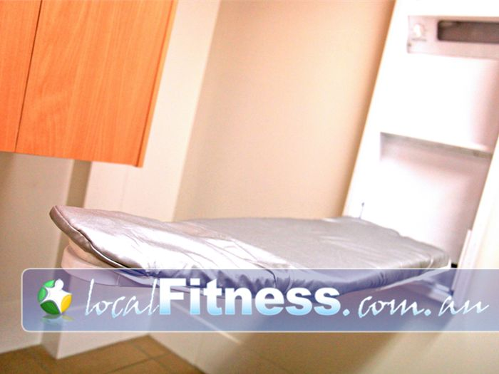 World Gym Near Riverwood Prepare for work after your workout with our complimentary ironing board.