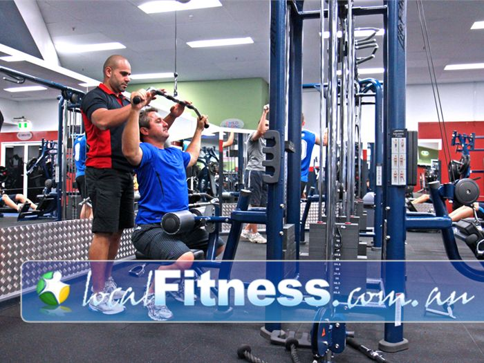 World Gym Near Condell Park Bankstown personal trainers will guide you through a structured workout.