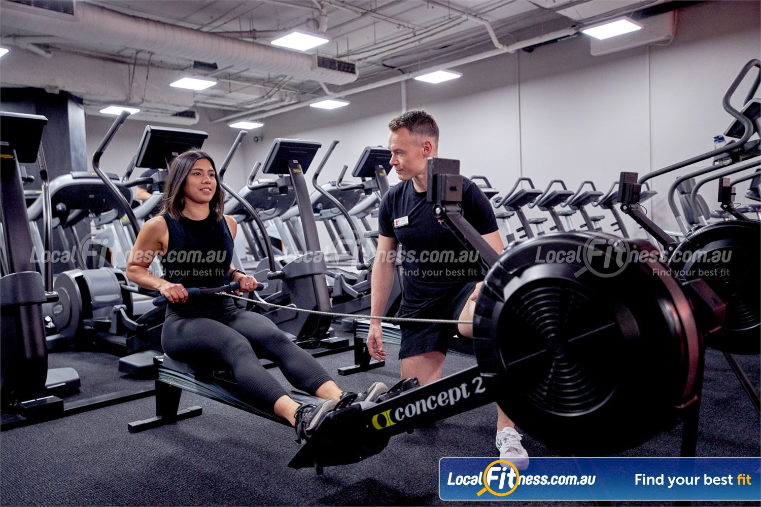 Fitness First Canberra City Near Capital Hill Our Canberra gym team can challenge you with a HIIT rowing workout.