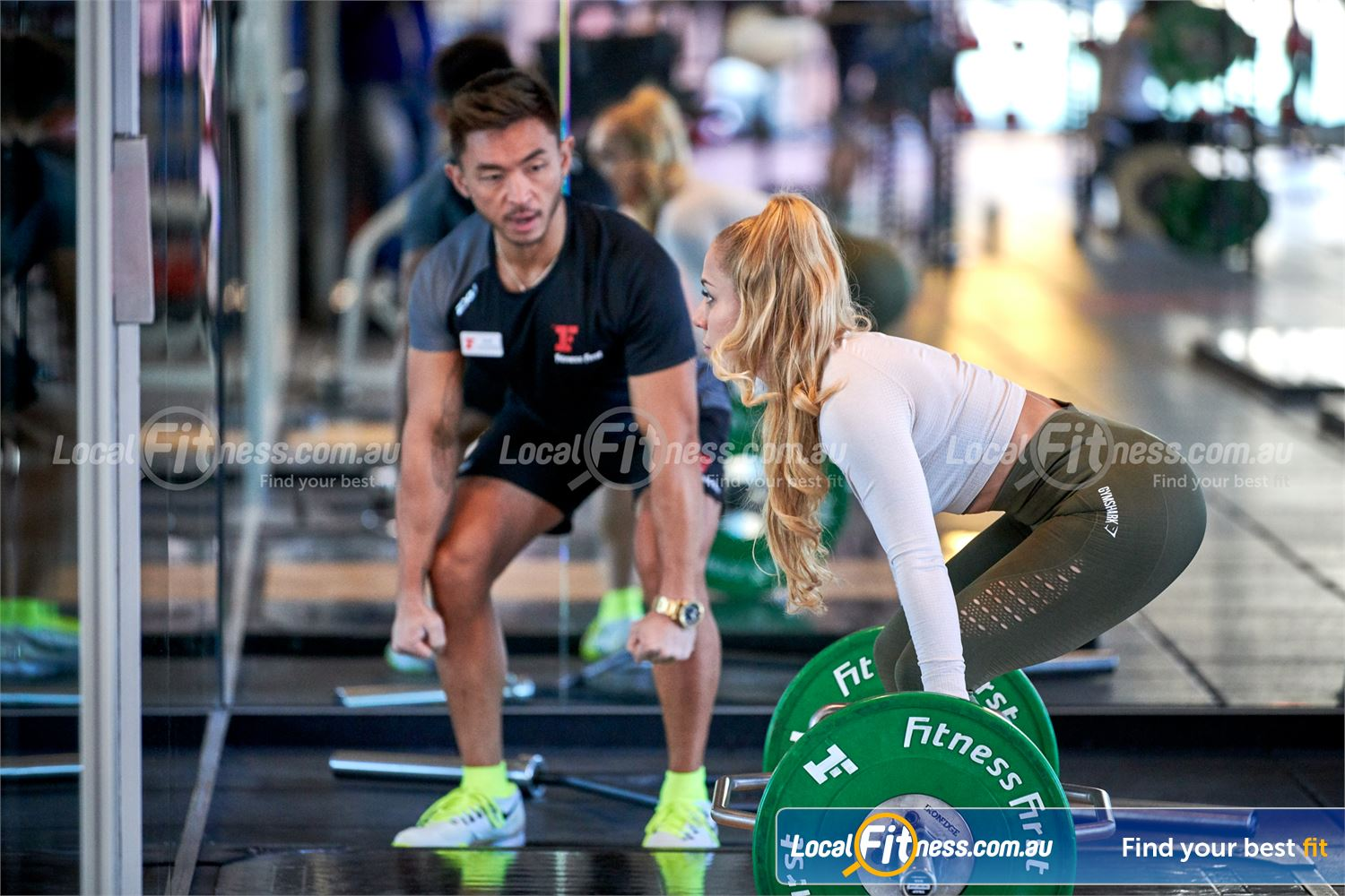 Fitness First Canberra City Near Parkes Canberra personal trainers can help you improve your deadlift.