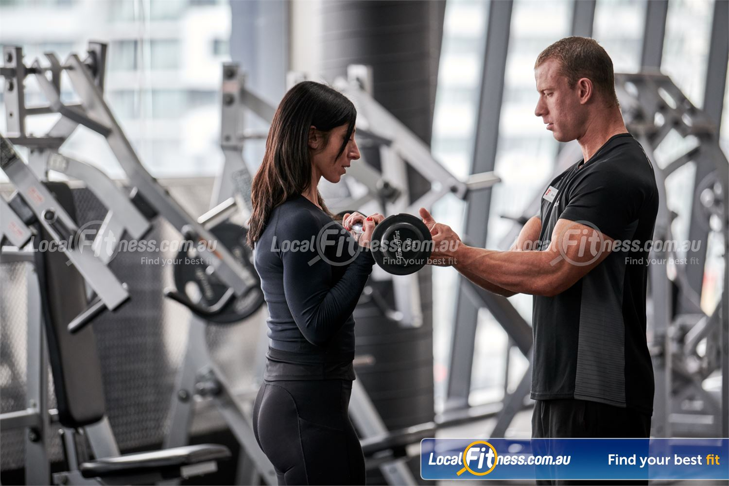 Fitness First Canberra City Near Parkes Our free-weights area is fully equipped with dumbbells barbells and more.