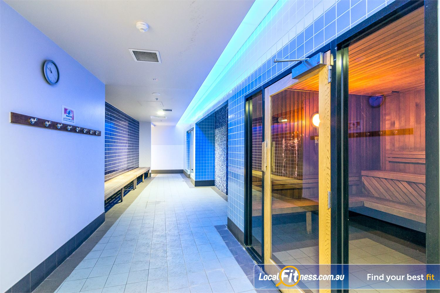 Goodlife Health Clubs Fortitude Valley Goodlife Fortitude Valley features a luxurious sauna.