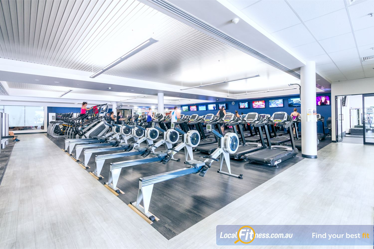 Goodlife Health Clubs Near Herston Multiple rowers so you can enjoy indoor rowing.