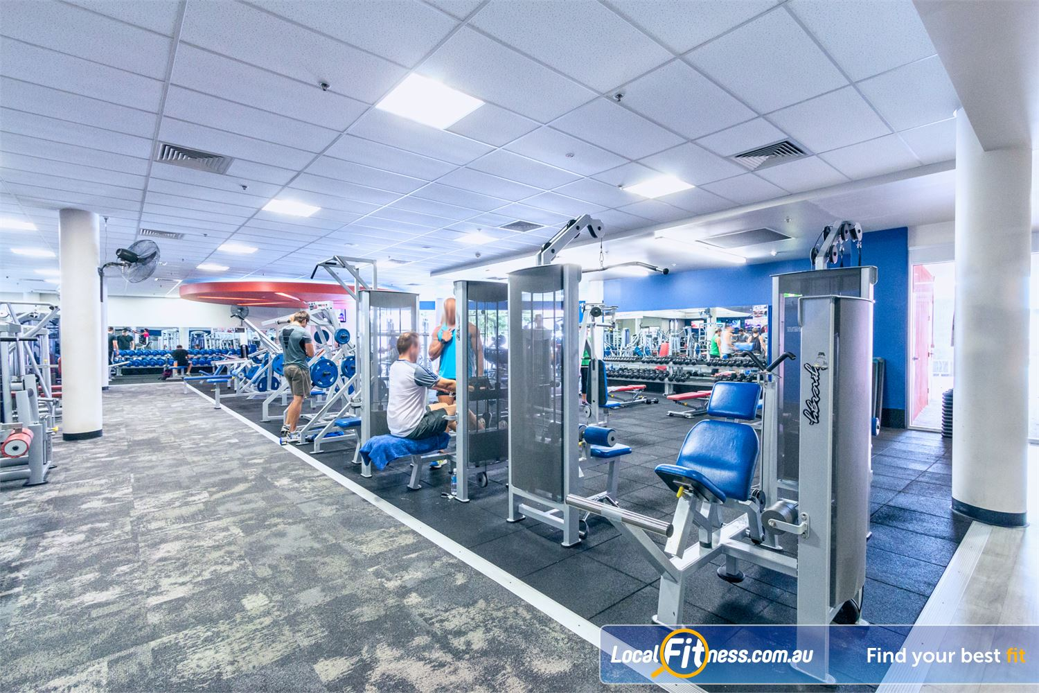Goodlife Health Clubs Near Kangaroo Point Our Goodlife Fortitude Valley gym is spacious.