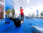 Genesis Fitness Clubs Lurnea Gym Fitness Fully equipped stretching area.