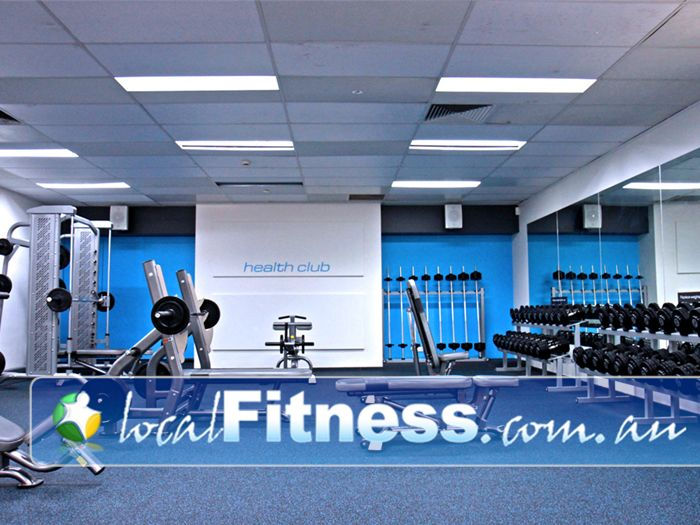Niddrie Health Club Gym Airport West  | The fully equipped Niddrie gym free-weights area.