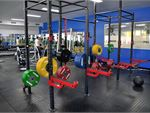 Heavy duty lifting racks for serious training.